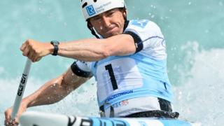 C1 Canoeist David Florence wins on Lee Valley return