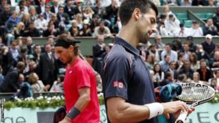 Rafael Nadal and Novak Djokovic