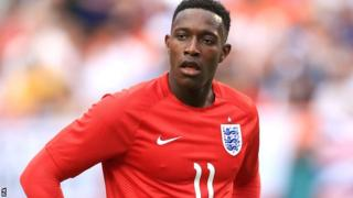 England forward Danny Welbeck in action in the friendly against Honduras