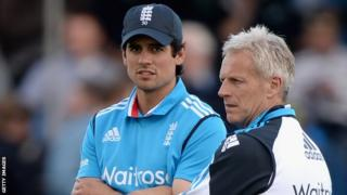 England captain Alastair Cook and coach Peter Moores