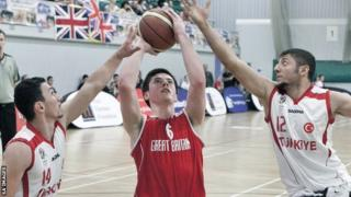 GB's Phil Pratt in action