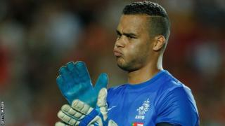 Michel Vorm in action for the Netherlands