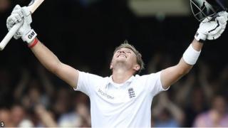 England batsman Joe Root celebrates his double century at Lord's