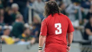 Adam Jones leaves the field in Durban