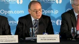 Peter Dawson of the R&A made the announcement on Monday at Royal Portrush