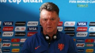 Netherlands coach Louis van Gaal