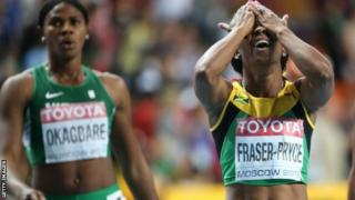Shelly-Ann Fraser-Pryce (right) faces fitness race ahead of Jamaican trials