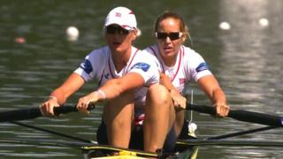 Helen Glover and Heather Stanning win gold at the Rowing World Cup in Aiguebelette, France