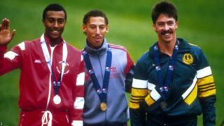 Edinburgh 1986: A young Colin Jackson (left) won silver in the 110m hurdles.