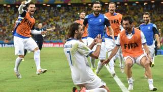 Georgios Samaras scores from the penalty spot to secure a 2-1 victory over Ivory Coast