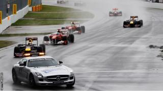 The safety car in use during the 2014 Canadian Grand Prix