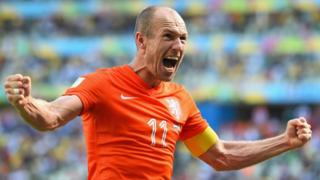 Netherlands striker Arjen Robben