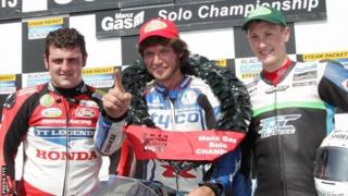 Guy Martin finished ahead of Michael Dunlop and Dean Harrison in the feature event in 2013