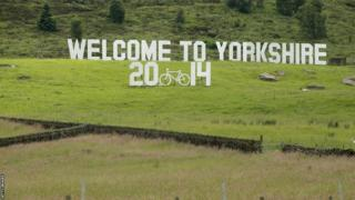 Welcome to Yorkshire sign - Tour de France Grand Depart