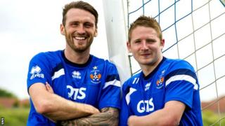 Lee Miller (left) has joined Paul Cairney at Kilmarnock