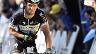 Mark Cavendish gingerly rode over the line