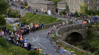 The Tour de France in the Yorkshire Dales