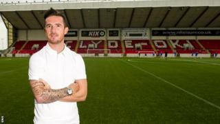 Clyde player-manager Barry Ferguson