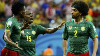 Broken. Cameroon were unable to leave any mark on Group A and team-mates Benjamin Moukandjo and Benoit Assou-Ekotto turned on each other during the defeat to Croatia in the heat of Manaus