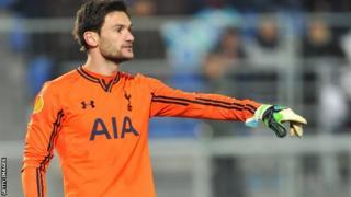 Spurs goalkeeper Hugo Lloris
