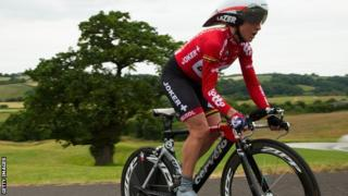 Emma Pooley in action in the National Championships