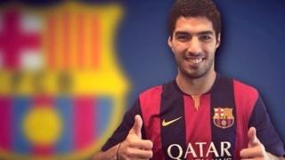 FC Barcelona show us how Luis Suarez will look in the club's colours
