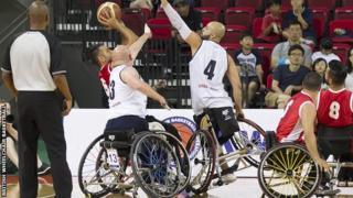 Great Britain v Turkey wheelchair basketball