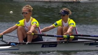 Great Britain's Kat Copeland and Imogen Walsh