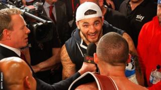 Nathan Cleverly and Tony Bellew exchange opinions