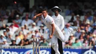 Simon Kerrigan in action for England during the Ashes