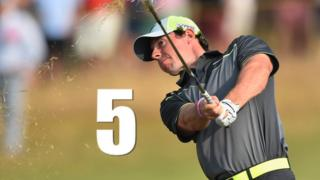 Watch Rory McIlroy's top five shots as the Northern Irishman continued his blistering form on the second day of the 2014 Open Championship