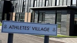 Athletes village sign