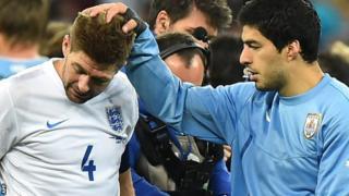 Steven Gerrard and Luis Suarez