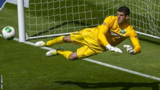 Fraser Forster has won three league titles with Celtic