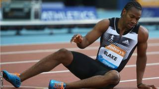 Yohan Blake of Jamaica