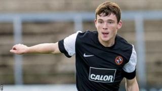 Dundee United defender Andrew Robertson