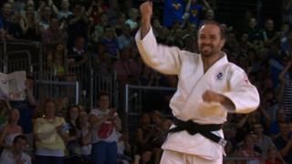 John Buchanan after winning bronze for Scotland