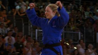 Northern Ireland's Lisa Kearney after winning bronze