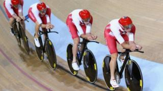 England's Sir Bradley Wiggins takes silver in the Men's Team Pursuit at the 2014 Commonwealth Games in Glasgow