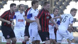 Crusaders took an early lead in the second leg against Brommapojkarna
