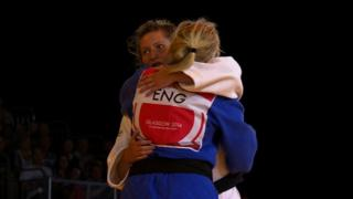 Wales' Natalie Powell beats England's Gemma Gibbons to win 78kg judo gold at the 2014 Commonwealth Games