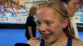 13-year old Erraid Davies wins swimming bronze