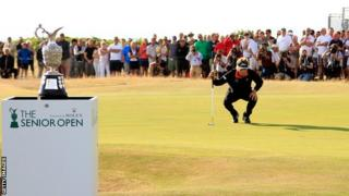 Bernhard Langer at Royal Porthcawl