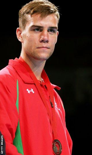 Light-heavyweight Nathan Thorley was one of five Welsh boxers to win bronze medals.