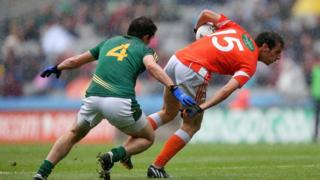 Armagh's Jamie Clarke evades the attention of Donal Keogan during Saturday's first semi-final at Croke Park