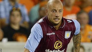Aston Villa's Alan Hutton