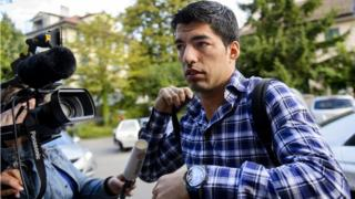 Uruguay and Barcelona striker Luis Suarez arrives for appeal hearing