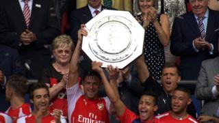 Arsenal lift the Community Shield
