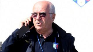 Newly-elected FIGC president Carlo Tavecchio