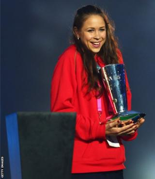 Frankie Jones received the David Dixon award award for fair play and inspiration during the closing ceremony for the Glasgow 2014 Commonwealth Games.